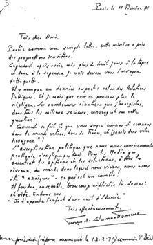 lettre de Clermont Tonnerre