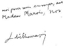 Lettre d'André Chouraqui, 1962